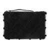 Kožená kabelka s prešívaním bata, čierna, 963-6193 - 26