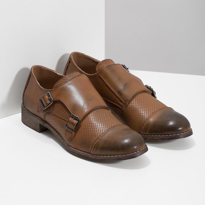 Dámske Monk Shoes bata, hnedá, 521-4609 - 26