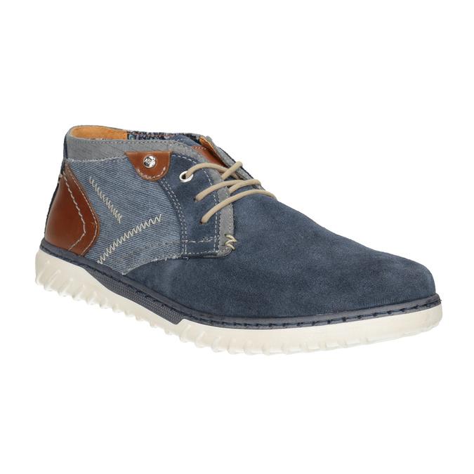 Pánska vycházková obuv bata, modrá, 843-9633 - 13