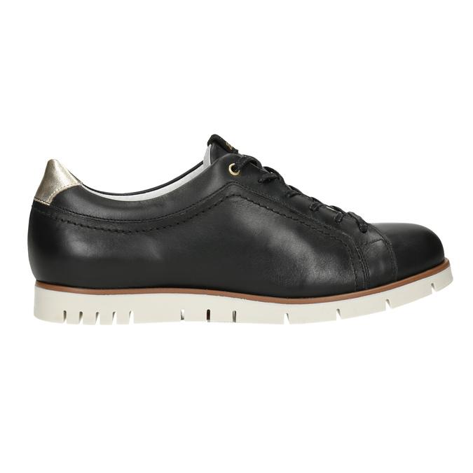 Dámske ležérne kožené poltopánky flexible, čierna, 546-6614 - 16