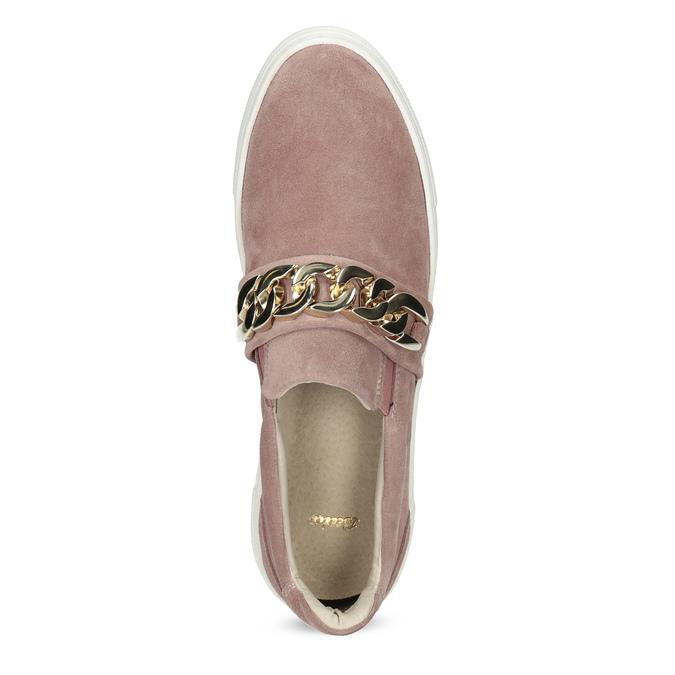 Kožená dámska Slip-on obuv bata, 513-5600 - 17