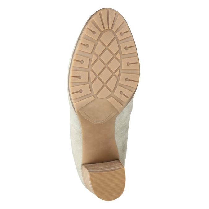 Členkové čižmy s perforáciou bata, šedá, 791-2615 - 17