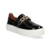 Kožená Slip-on obuv na flatforme bata, čierna, 518-6601 - 13