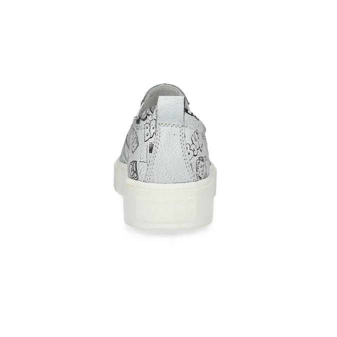 Dámska kožená Slip-on obuv bata, biela, 536-1608 - 15