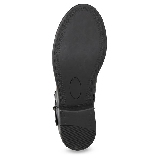 Čierne čižmy s čipkou bata, čierna, 591-6628 - 18