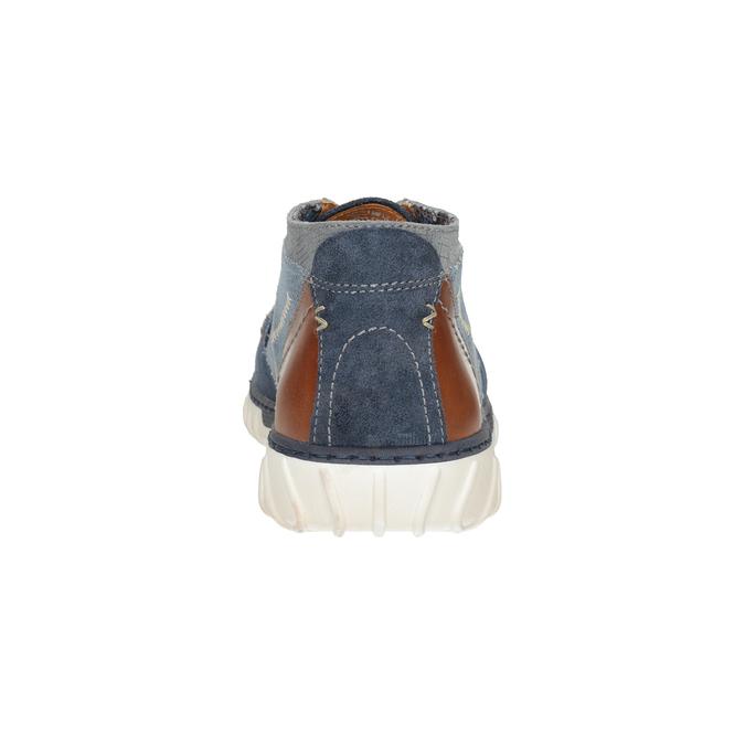 Pánska vycházková obuv bata, modrá, 843-9633 - 16