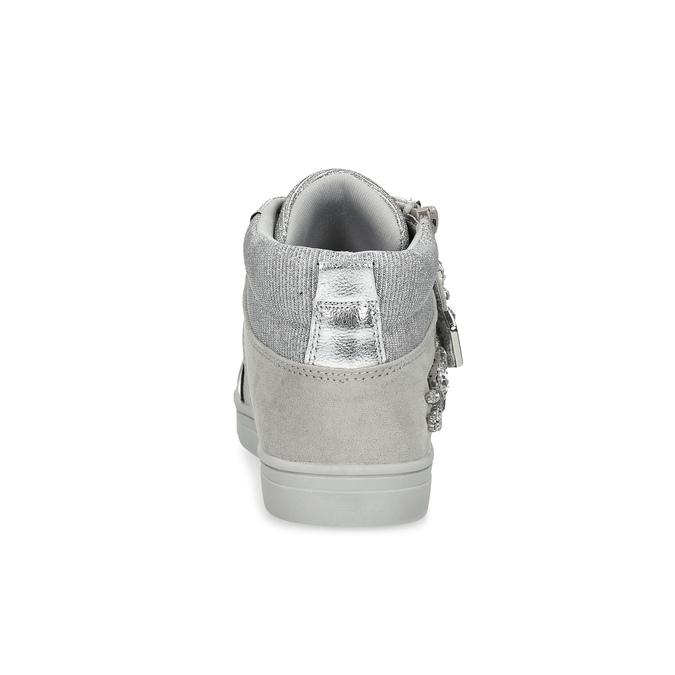 Strieborné dievčenské tenisky s kamienkami mini-b, strieborná, 329-2301 - 15