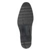 Pánske kožené poltopánky s prešitím bata, čierna, 824-6982 - 17