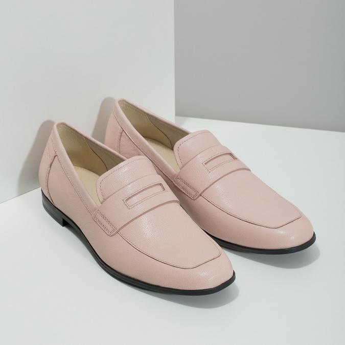 Ružové kožené Penny Loafers vagabond, ružová, 514-8094 - 26