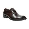 Tmavé hnedé kožené poltopánky bata, hnedá, 824-4983 - 13