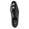 Čierne kožené Derby poltopánky bata, čierna, 824-6981 - 15