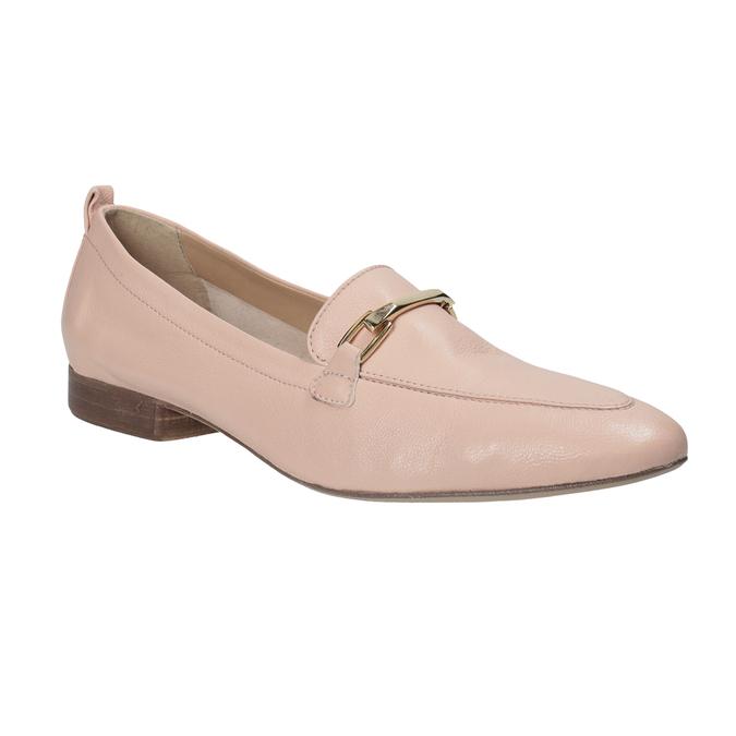 Kožené ružové dámske mokasíny bata, 516-5619 - 13