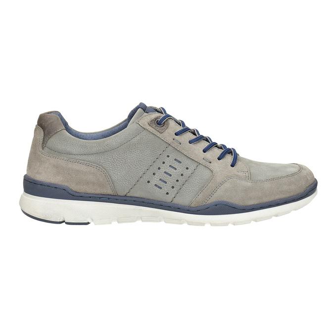 Pánske kožené tenisky bata, šedá, 846-2639 - 16