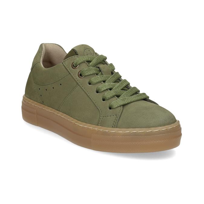 Detské zelené kožené tenisky mini-b, zelená, 416-7601 - 13