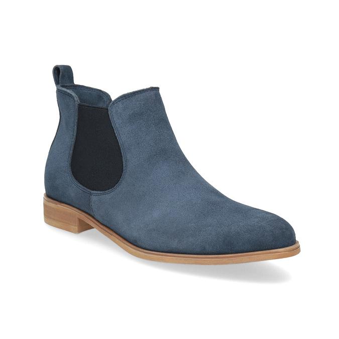 Modré kožené Chelsea čižmy bata, modrá, 593-9614 - 13