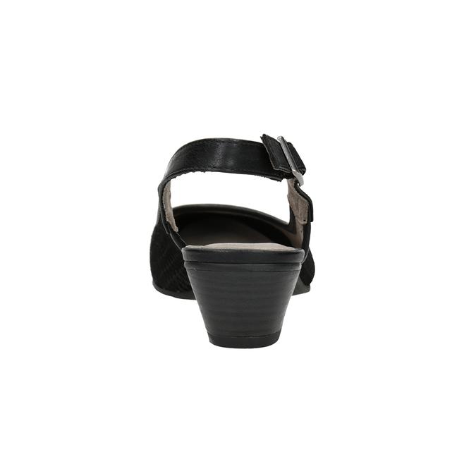 Lodičky šírky H s voľnou pätou bata, čierna, 623-6645 - 16