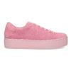 Ružové kožené tenisky na flatforme vagabond, ružová, 623-5050 - 19