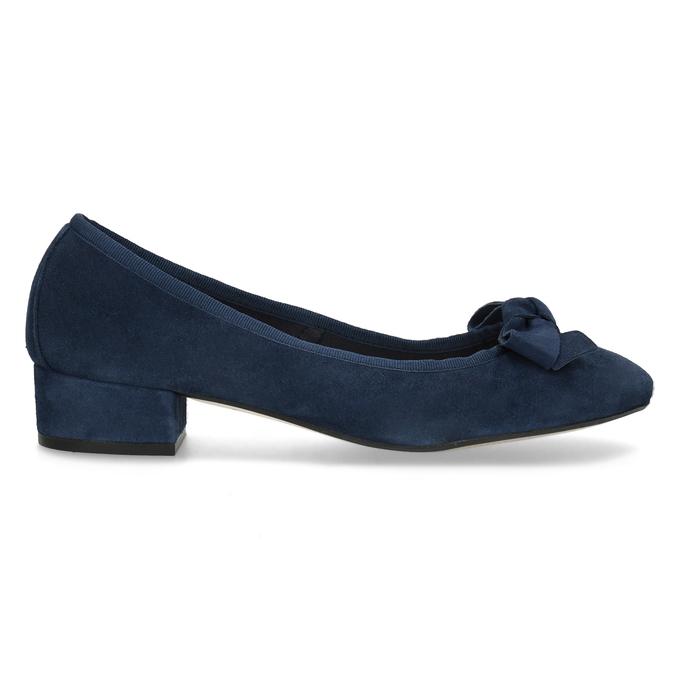 Modré baleríny z brúsenej kože bata, modrá, 523-9420 - 19