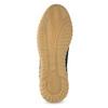 Modré pánske tenisky z brúsenej kože bata, 843-9634 - 18