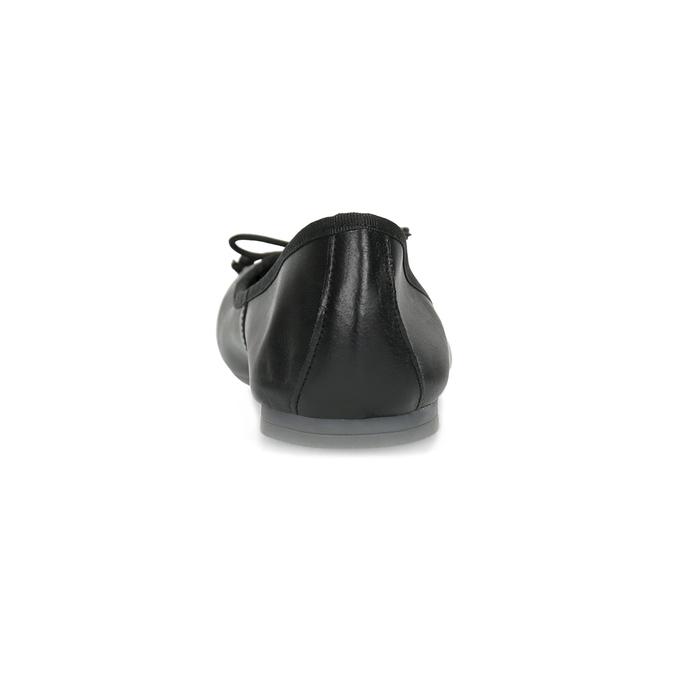 Kožené čierne baleríny s mašličkou bata, čierna, 524-6144 - 15