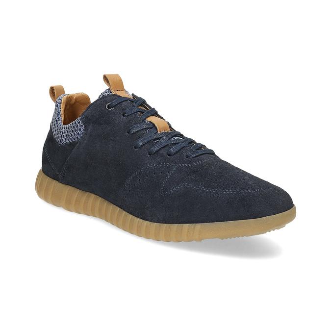 Modré pánske tenisky z brúsenej kože bata, 843-9634 - 13