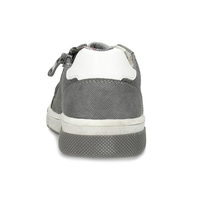 Detské tenisky s perforáciou mini-b, šedá, 411-2102 - 15