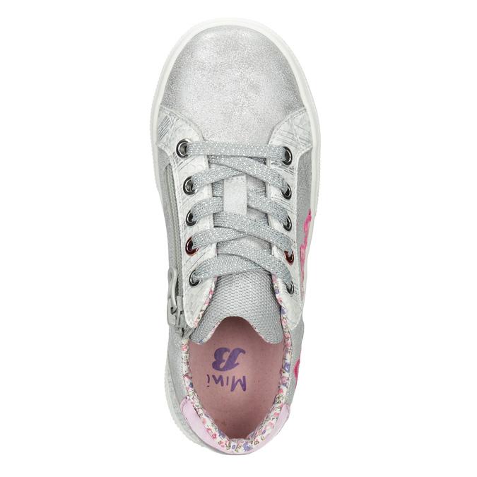 Dievčenské tenisky s výšivkou mini-b, strieborná, 321-1381 - 15