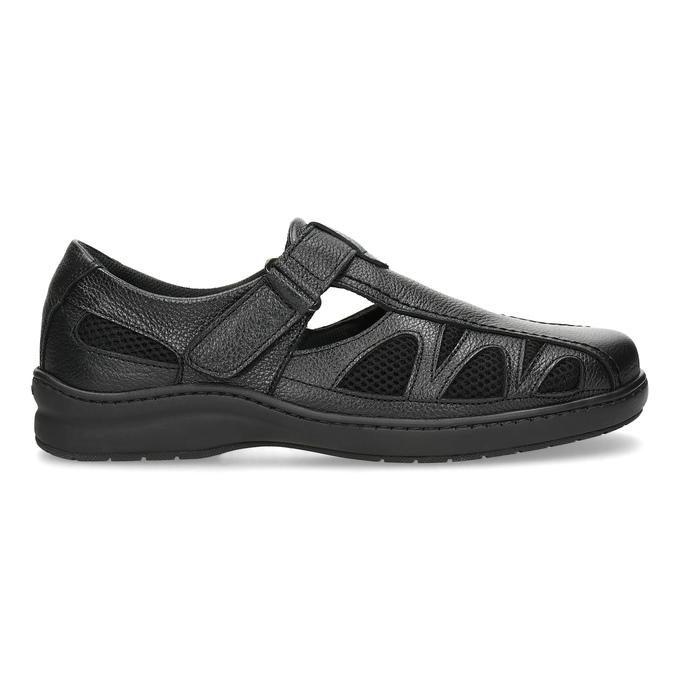Pánske kožené sandále v elegantnom dizajne pinosos, čierna, 864-6625 - 19