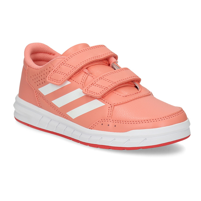 Detské tenisky v lososovej farbe adidas, ružová, 301-5151 - 13