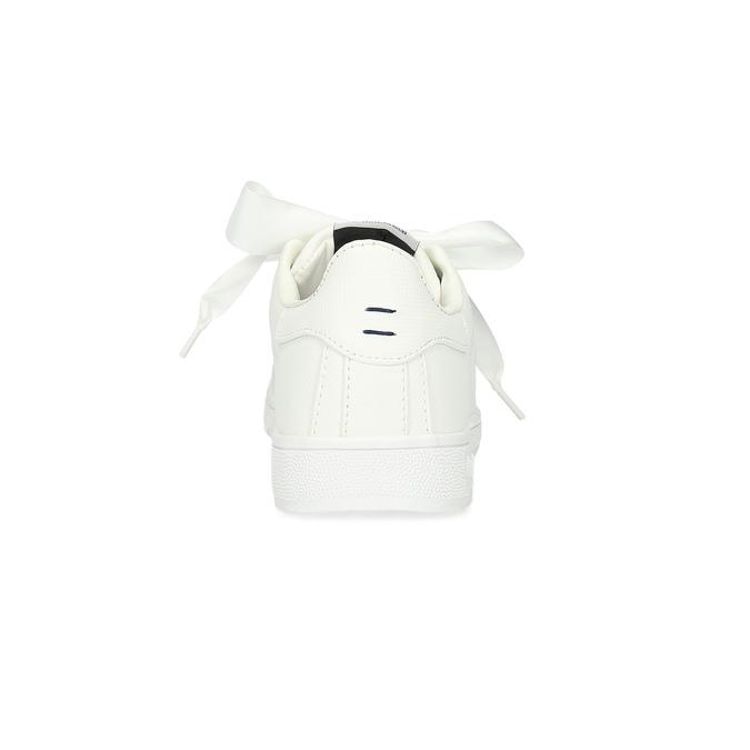 Biele tenisky so saténovou mašľou pepe-jeans, biela, 541-1076 - 15