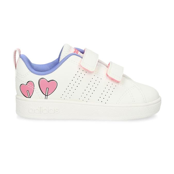 Detské biele tenisky so srdiečkami adidas, biela, 101-1129 - 19