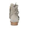 Kožené členkové čižmy s prestrihmi bata, šedá, 596-2689 - 15