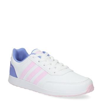 Dievčenské biele tenisky s ružovými detailami adidas, biela, 401-1181 - 13