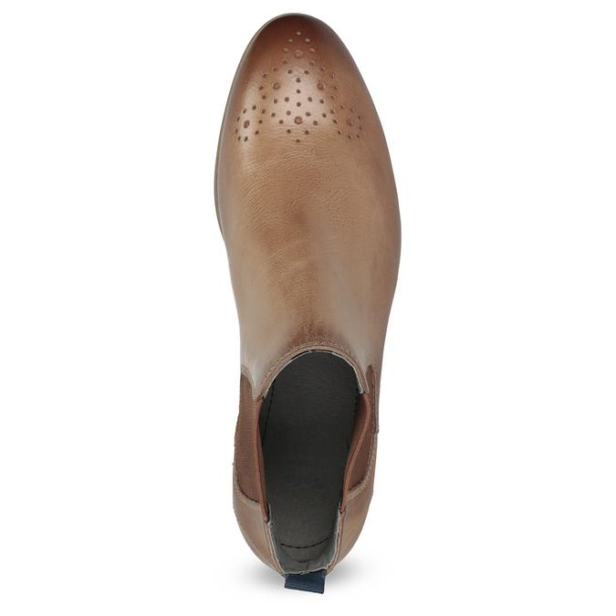 Dámska kožená Chelsea obuv bata, hnedá, 596-3684 - 17
