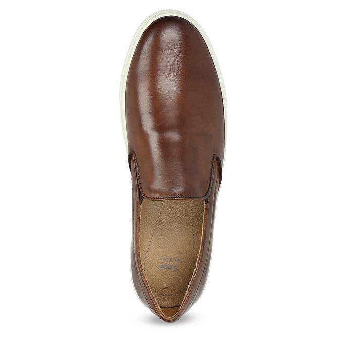 Pánska kožená Slip-on obuv bata, hnedá, 836-4601 - 17