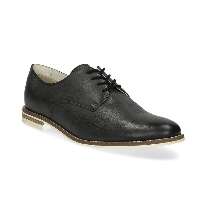 Kožené dámske poltopánky bata, čierna, 526-6650 - 13