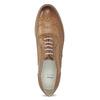 Hnedé dámske kožené poltopánky bata, hnedá, 526-3649 - 17