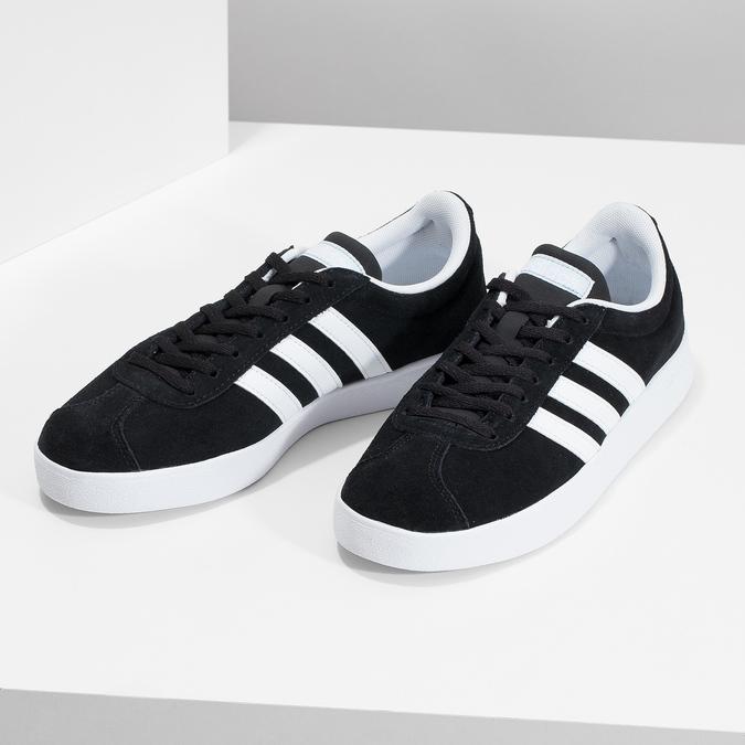 Čierne dámske tenisky z brúsenej kože adidas, čierna, 503-6379 - 16