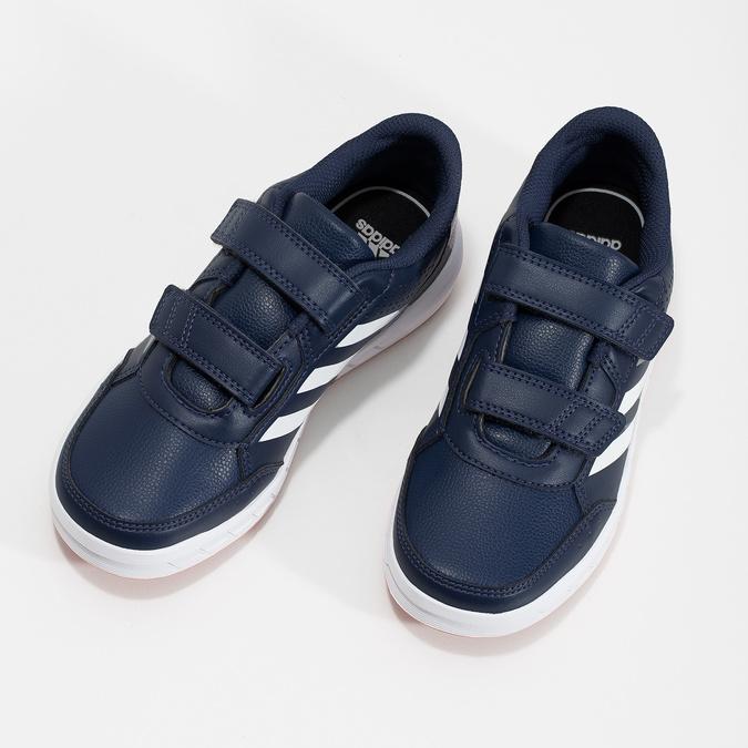 Modré detské tenisky na suchý zips adidas, modrá, 301-9151 - 16
