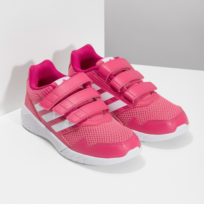 Ružové tenisky na suchý zips adidas, ružová, 309-5148 - 26