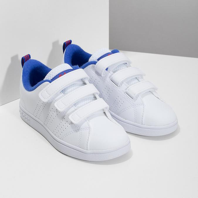 Biele detské tenisky na suchý zips adidas, biela, 301-1968 - 26