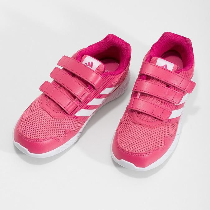 Ružové tenisky na suchý zips adidas, ružová, 309-5148 - 16