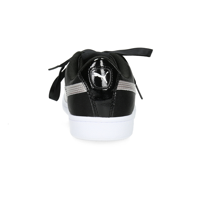 Saténové tenisky s mašľou puma, čierna, 509-6718 - 15