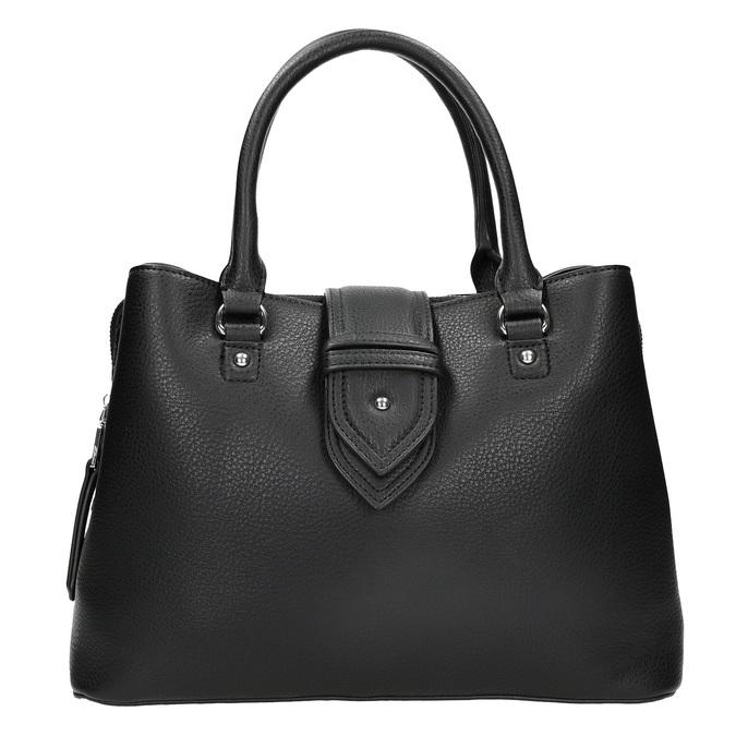 Čierna kabelka s odnímateľným popruhom bata, čierna, 961-6216 - 26
