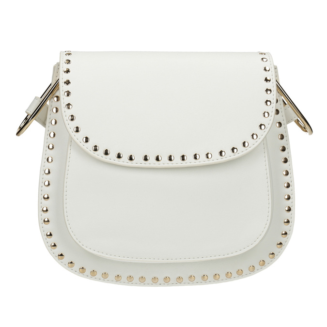Dámska Crossbody kabelka s cvočkami bata, šedá, 961-2844 - 26