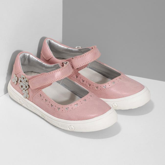 Ružové dievčenské baleríny mini-b, ružová, 221-5216 - 26