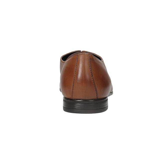 Hnedé kožené Derby poltopánky so štruktúrou bata, hnedá, 826-3945 - 15