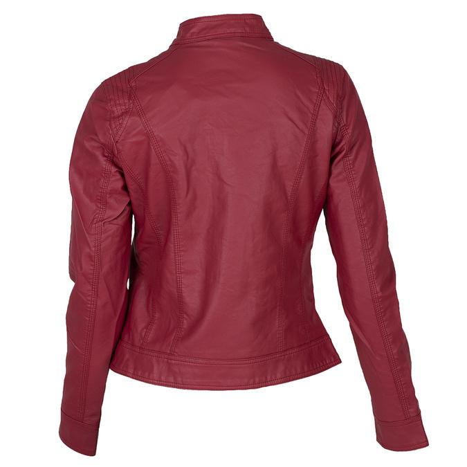 Koženková dámska bunda červená bata, červená, 971-5206 - 26