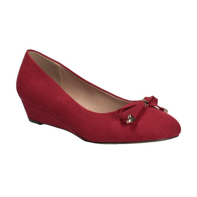 Červené baleríny na kline bata, červená, 629-5633 - 13
