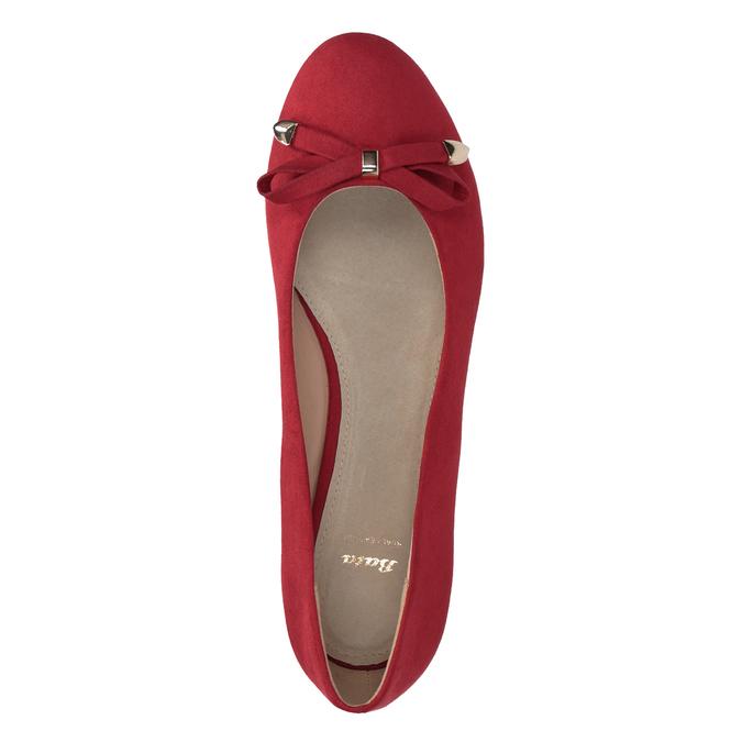 Červené baleríny na kline bata, červená, 629-5633 - 17